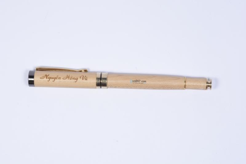 But-Go-05-2 Bút gỗ 05 - bút gỗ nắp bật mực nước