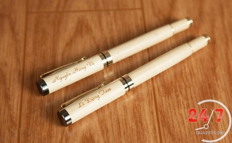 But-Go-05b Bút gỗ 05 - bút gỗ nắp bật mực nước