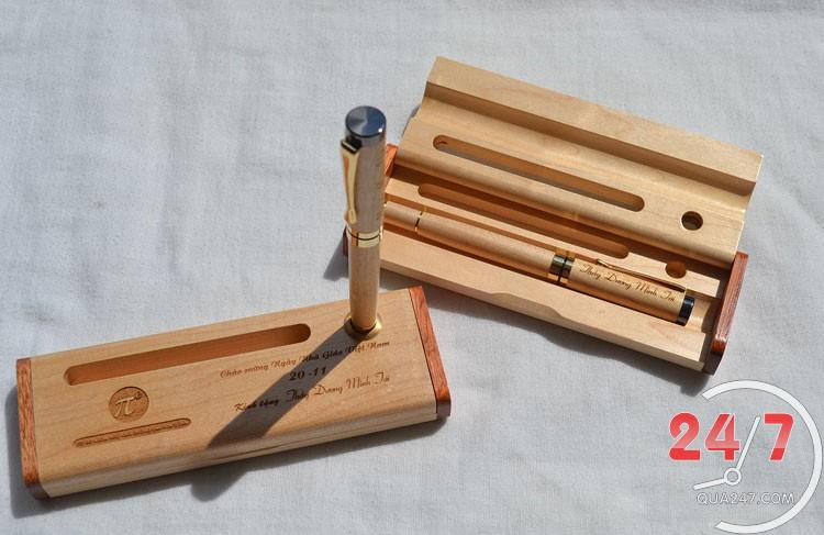 Hop-But-Go-09 Hộp bút gỗ 09 - hộp gỗ không ghép