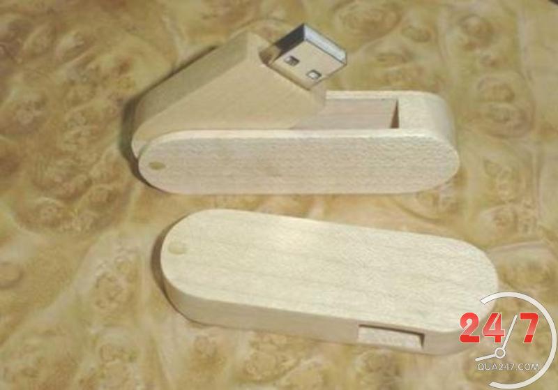 USB-Go-04 USB 03 - quà tặng usb gỗ nắp xoay