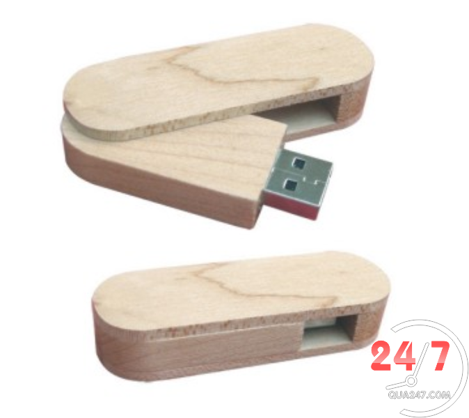 USB-Go-04b USB 03 - quà tặng usb gỗ nắp xoay