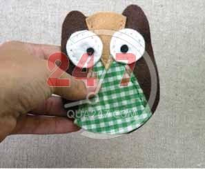 may-cu-meo6 Tự may em cú mèo cực xinh bằng vải dạ làm móc điện thoại độc đáo