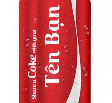 In tên lên lon coca-cola đứng