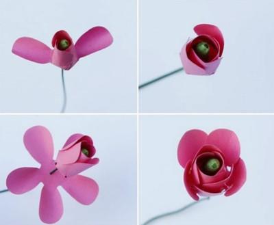 cach-lam-hoa-hong-giay-don-gian-1 Hướng dẫn làm quà tặng bông hồng bằng giấy
