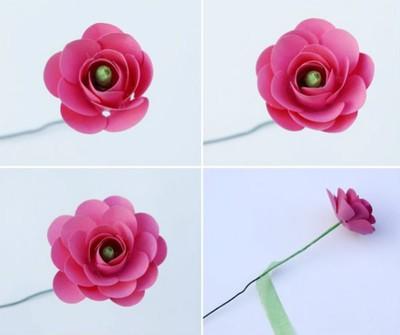 cach-lam-hoa-hong-giay-don-gian-2 Hướng dẫn làm quà tặng bông hồng bằng giấy
