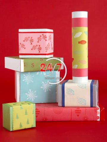 tu-trang-tri-goi-qua-noel-2 Cách làm hộp quà tặng handmade đẹp