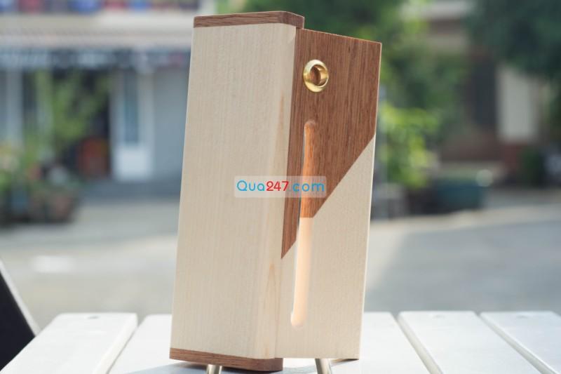 Hop-But-Go-10-1 Hộp bút gỗ 10 - hộp gỗ ghép 2 màu