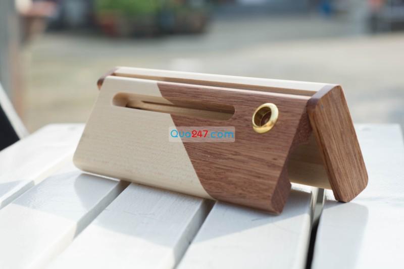 Hop-But-Go-10-4 Hộp bút gỗ 10 - hộp gỗ ghép 2 màu