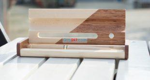 Hộp bút gỗ 10 – hộp gỗ ghép 2 màu