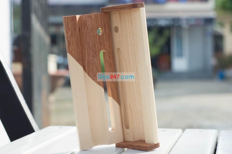 Hop-But-Go-10-8 Hộp bút gỗ 10 - hộp gỗ ghép 2 màu