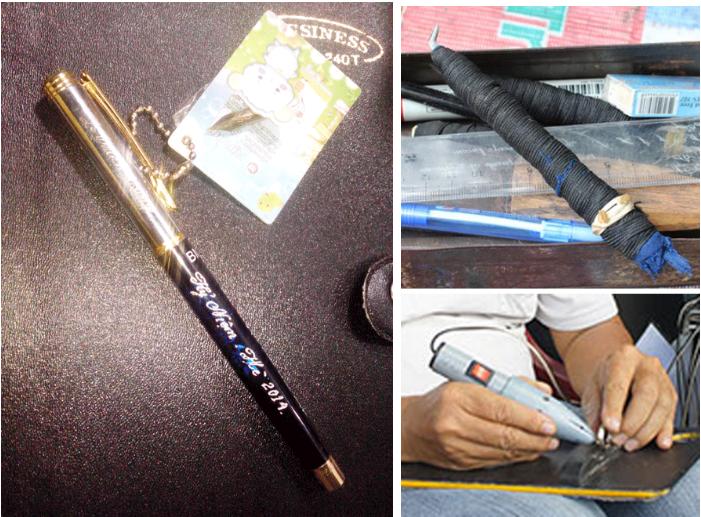 khac-chu-bang-tay Những phương pháp khắc chữ lên bút kim loại